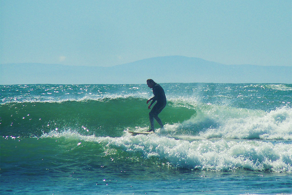 Surfing the Redwood Coast Fern Hook Vacation Cabins
